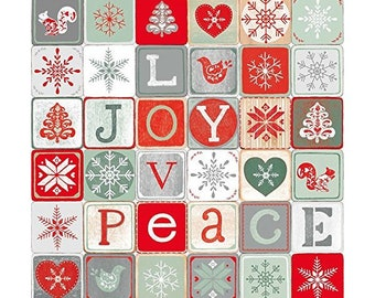 Clearance Sale~Joy Love Peace~Cotton Fabric By Studio E