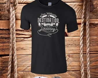 Run Without A Destination Life Is A Journey-  Mens T-Shirt Crew Neck Multiple Sizes Available