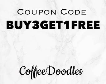 Buy Any 3 items and get the 4th FREE! BUY3GET1FREE
