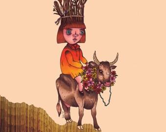 DAWN A4 Art Print by Winnifreds Daughter
