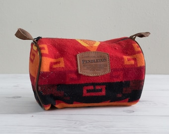 Vintage Pendleton Dopp Bag Travel Kit