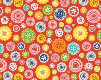Lazy Day Red Floral - 1/2 Yard - Lori Whitlock for Riley Blake