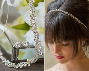 Wedding Hair Accessories, Silver Bridal Headband, Wedding Headband, Bridal Hair Accessories, Crystal Wedding Headband, Wedding Hair, H081-S