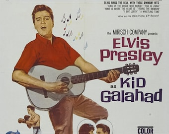 Kid Galahad 1962 Elvis Presley musical movie poster reprint 19x12.5 inches