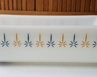 Vintage Candle Glow Loaf Pan by Anchor Hocking