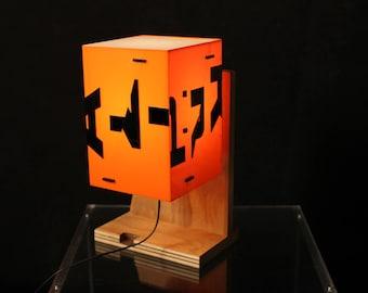 Redesigned desk lamp,recyceld desk lamp,lighting design,handmade,unique,recycled art,art object,unique light