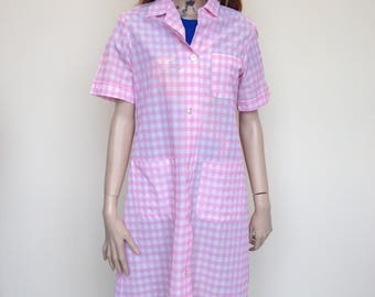 Pink and White Checked Coverall by Alexandra