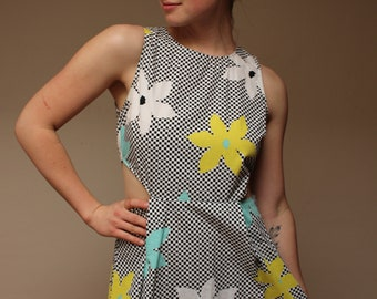 Jack Checkered and Floral Print Dress