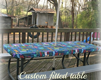 Table Covers/ Picnic Table Covers/ Stay Put Table Covers/ Custom Table  Covers