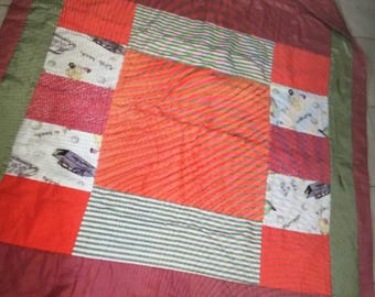 Sateen and Chenille Quilt