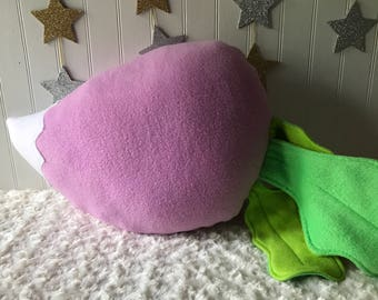 Turnip Pillow, Plush Turnip, Vegetable Pillow, Food Pillow, Vegetable Plush