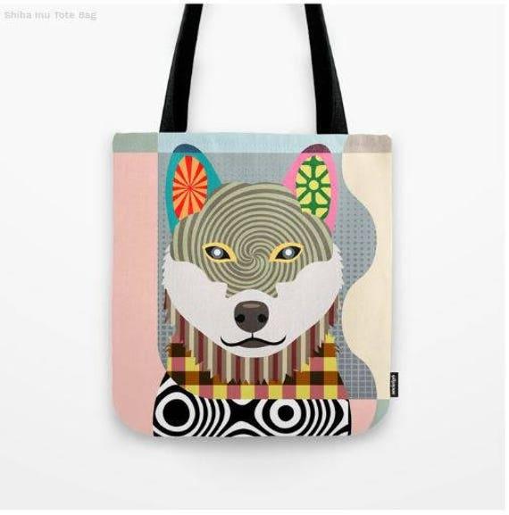 Shiba Inu Tote, Shiba Inu Bag, Shiba Inu Gifts, Shiba Inu Art Print, Dog Tote Bag, Dog Lover's Gift, Animal Lover Gift, Pet Tote Bag