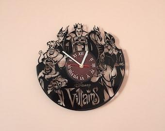 DISNEY Villains MOViE wall clock gifts for men gift for kids gifts for boys disney gifts tshirt present alternative disney the best