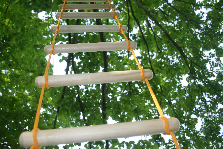 Seil Leiter Baum schwingen indoor outdoor Touwladder