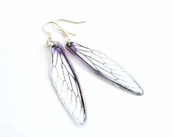 Resin Dragonfly Wing Earrings