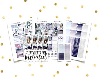 LET IT SNOW Weekly Kit // Printable Planner Stickers / Erin Condren Plum Paper Happy Planner Filofax Inkwell Press Stickers Christmas Winter