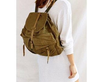 Vintage Czech army communist rucksack backpack soviet era  ruck sack shoulder bag backpack military socialist  Czechoslovakia