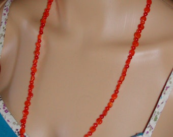 Orange Carnelian sterling necklace