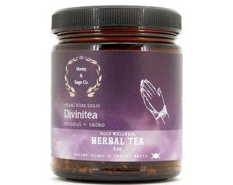 Divinitea Herbal Tea: Ritual Bliss Tonic, Coconut, Rooibos, Cinnamon, Honeybush, Cacao
