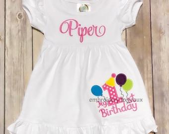 First Birthday Dress, My First Birthday Dress, Girls Birthday Dress, First Birthday, Birthday Party Dress, First Birthday Outfit, Birthday