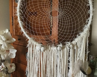 Whimsical in White Dreamcatcher