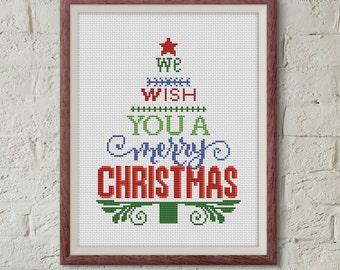 Christmas tree cross stitch pattern pdf christmas cross stitch pattern quote cross stitch pattern holidays cross stitch pattern pdf