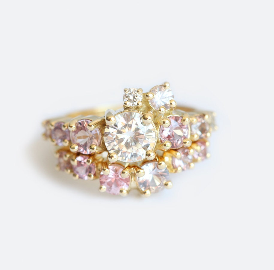 adonis white rose cluster ring gold de beers rings diamond