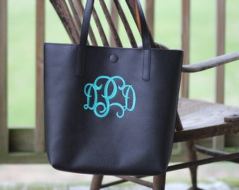 Monogrammed Tote Bag - Personalized Tote Bag - Custom Tote Bag - Embroidered Tote Bag - Diaper bag - Monogram purse - Embroidered Tote Bag
