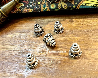 Silver charm s925 10mm thai silver diy torus S925 silver crafted flower torus bead caps 3270000