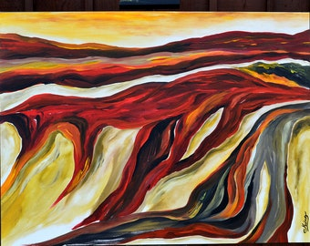 Abstract Acrylic Painting OOAK