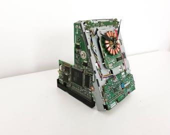 "Floppy drive clock 3,5"", hard drive clock, hdd clock, fdd clock, gift for guys, men gift, computer clock"