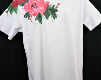 Hand Painted Roses shirt