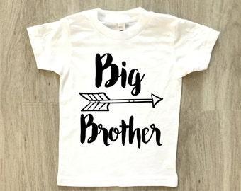 Big Brother tshirt - baby boy or girl shirt - toddler t-shirt - summer tee
