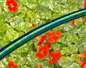 """Memerising """"Blue-Green Scarab"""" Hula Hoop / Colour Morphing / 19mm (3/4"""") PolyPro Tubing/ Custom Sizes / On and Off Body Hooping / Beautiful!"""