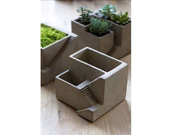 Stair planter, 3 different styles and pocket sizes to choose. Can plant one, two, or three plant pockets