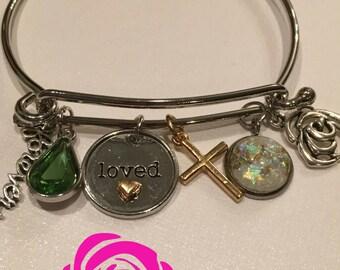 Forever LOVED Bangle Charm Bracelet