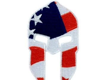 Patch flag applique warrior applique molon labe spartan army helmet shield usa