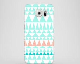Tribal mint Samsung S7 case, Samsung Galaxy S6, S6 Edge, S5, mint iPhone X, cute iPhone 8, 8/7 Plus. iPhone 7, iPhone 6, 6S, iPhone SE, 5/5S
