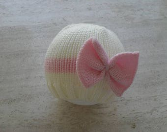 Instant Download Knitting Pattern Baby Girl Hat/Beanie - Quick Easy Makes Four Sizes