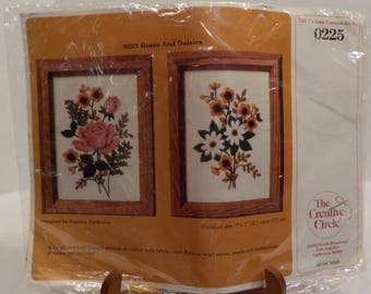 Creative Circle Stitch Kit Roses and Daisies Made in USA
