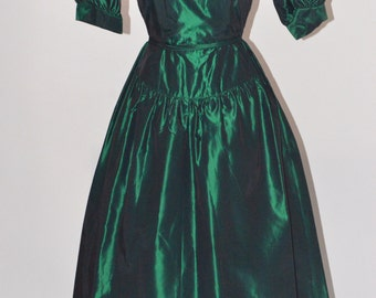 Vintage Estate Lanz Originals Emerald Green Dress
