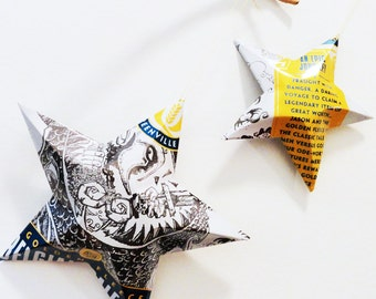 Golden Fleece Blegian Pale Ale,  Beer Aluminum Can Stars, Ornaments, Blue White Yellow, Quest Brewing Company