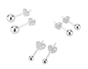 Sterling Silver Mix And Match Ball Stud Set