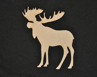 Moose Wood Cutout, Laser Cut, Animal Shaped, DIY Unfinished, for Canadians, Caribou, Crafters, Paint Your Own by Liahona Laser on Etsy