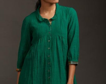 Forest Green Peter Pan Tunic