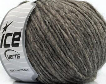 Peru Alpaca Worsted Yarn Heather Grey #48622 Ice Merino Wool Alpaca Acrylic 50g 98y