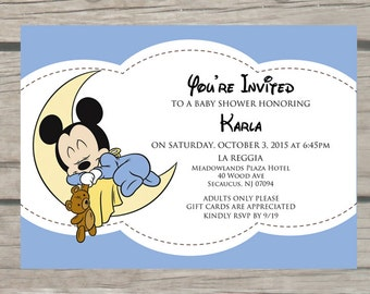 Mickey baby shower etsy mickey mouse baby shower invitation filmwisefo Choice Image