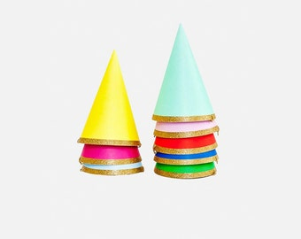 8 x Mini Party Hats