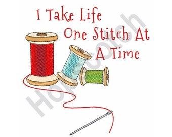 Thread Spool And needle - Machine Embroidery Design