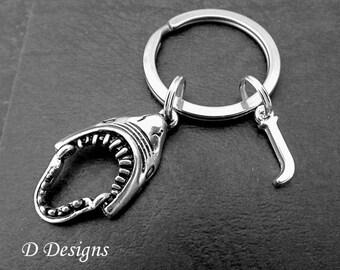 Shark Keyring, Shark KeyChain, Beach Key Chain, Beach Keyring, Personalised Keychain, Shark Gifts, Shark Jewellery